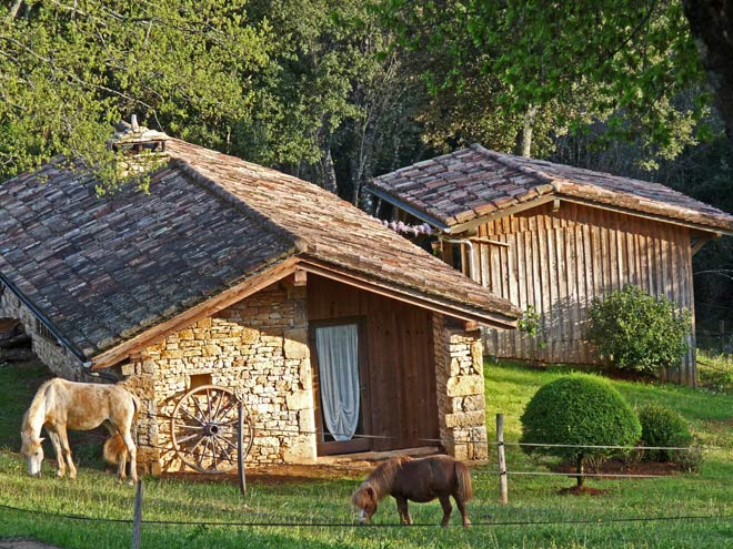Little farm in holiday village in the Dordogne