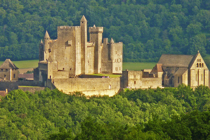 View of Beynac château in the Dordogne
