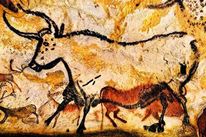 Paintings in Lascaux cave, south-west France