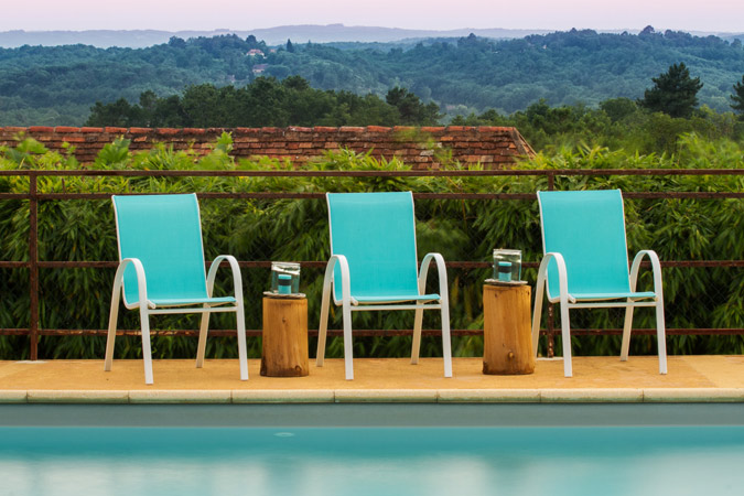 Pool with a view of the Dordogne Valley