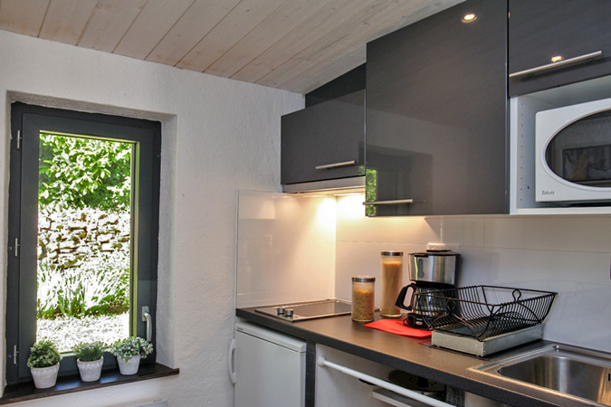 Ikea kitchen in this vacation rental for 2 people in Sarlat in the Dordogne