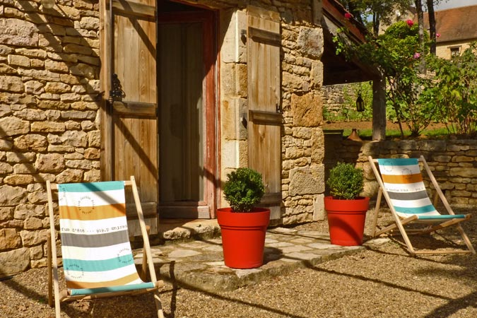 Relaxation at the Oustal du Potager gite Sarlat, Dordogne