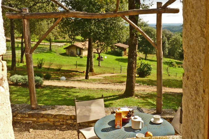 Breakfast at the Oustal du Potager gite Sarlat